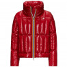 JOSEPHINE WARM SHINY QUILTED Rouge