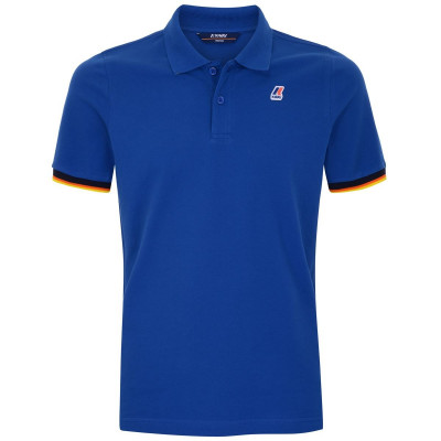 VINCENT CONTRAST POLO BLEU ROYAL