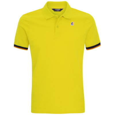 VINCENT CONTRAST POLO GREEN LIME