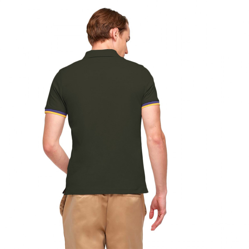 VINCENT CONTRAST POLO GREEN AFRICA