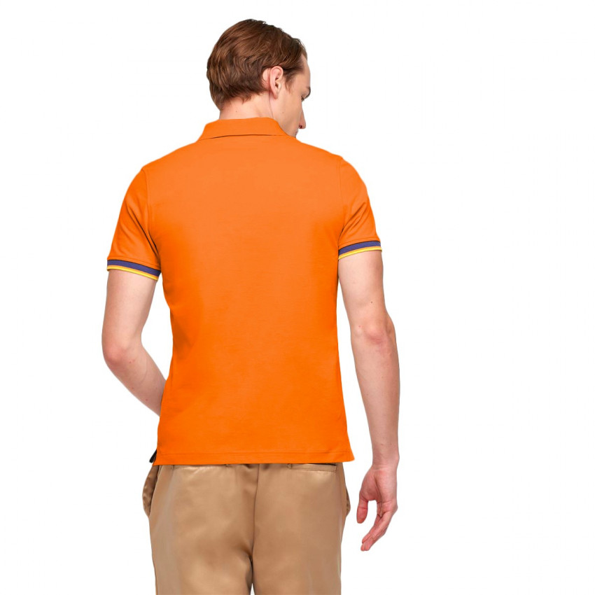 VINCENT CONTRAST POLO ORANGE